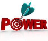 Power Word Arrow Hitting Strength Target Bulls-Eye