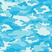 Blue Camouflage Background