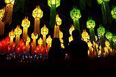 many chinese lanterns