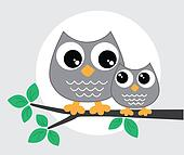 two sweet little owls