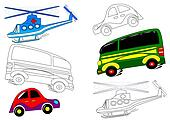 Transportation - coloring books