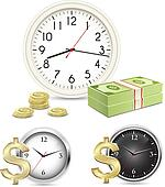 Time is money. Office Clock and Money