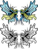 Fairy Wings Graphic Vector Set
