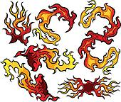 Fire and Flames Vector Icon Ilustra