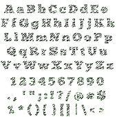 Zebra & Lime Alphabet & Numbers