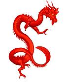 Lucky Red Chinese Dragon