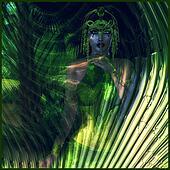 Abstract green Eath Goddess