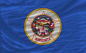 complete flag of us state of minnesota covers whole frame, waved, crunched and very natural looking. It is perfect for background
