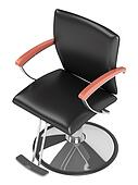 Black hairdressing salon chair