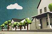 low poly neighborhood