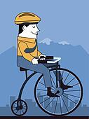 Retro Cyclist Illustration