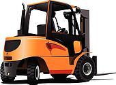 Lift truck. Forklift. Vector illus