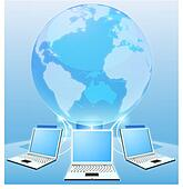 Computer network world concept