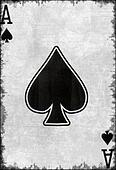 Grunge Ace Of Spade Playing Card