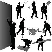 worker with their tool vector illustration
