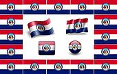 Flag of Missouri. icon set. flags frame