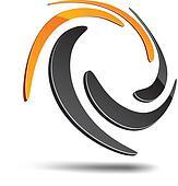 Abstract swirl symbol.