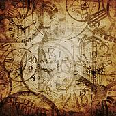 Grunge background . Watches. Time