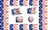 Flag of Newfoundland and Labrador. icon set. flags frame