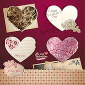 Valentine's day hearts and elements