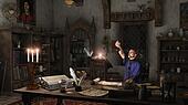 Alchemist in his Study