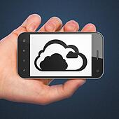 Cloud technology concept: Cloud on smartphone