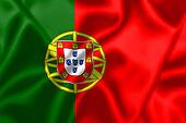Portugal flag blowing in the wind