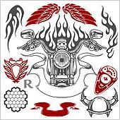 Motorcycle Elements Set