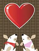 Valentines dog love background