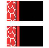 Peach Black Giraffe Business Cards