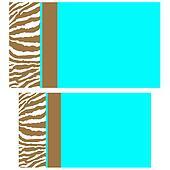 Brown & Aqua Zebra Business Cards