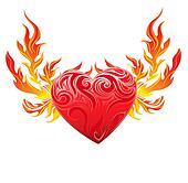 Red heart vector symbol
