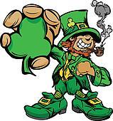 Smiling St. Patricks Day Leprechaun
