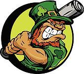 St. Patricks Day Leprechaun Holding