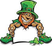 Smiling St. Patricks Day Leprechau