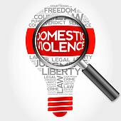 Domestic Violence bulb word cloud