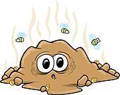 Surprise Poop Turd Vector Art