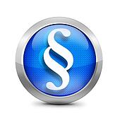 blue Paragraph symbol