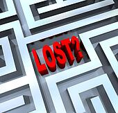 Lost Word in Maze Disoriented in Labyrinth