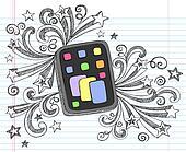 Tablet Computer Sketchy Doodle