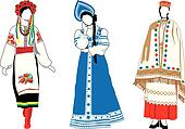 women in their national costumes