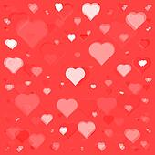 flying hearts seamless pattern