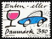Postage stamp Denmark 1991 Stop Drunk Driving