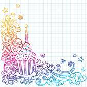 Sketchy Cupcake Birthday Doodle