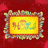 Abstract Holi Background
