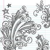 Starburst Sketchy Notebook Doodles