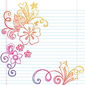 Hibiscus Sketchy Summer Notebook Do