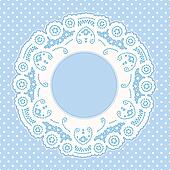 Lace Frame, Polka Dot Background