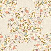 seamless stylish floral background in vintage style