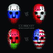 Goalie masks with flags